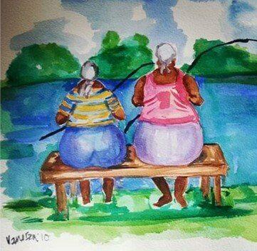 ציור של דייג